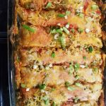 Beef and Green Chili Enchiladas