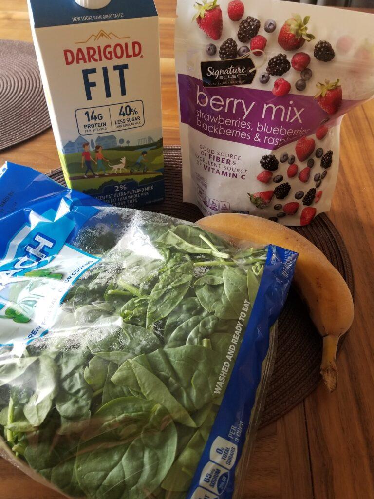 Berry Berry Good Smoothie ingredients