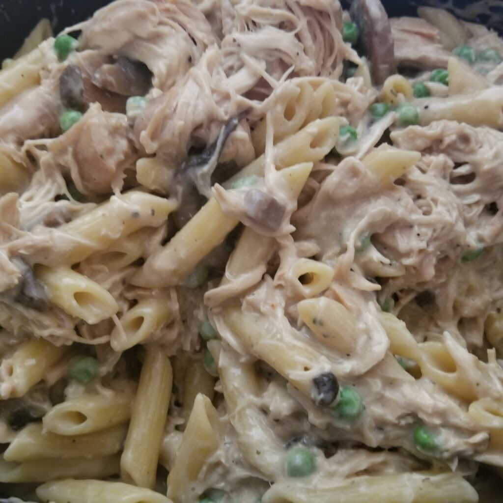 Creamy Mushroom Chicken with Whole Wheat Penne