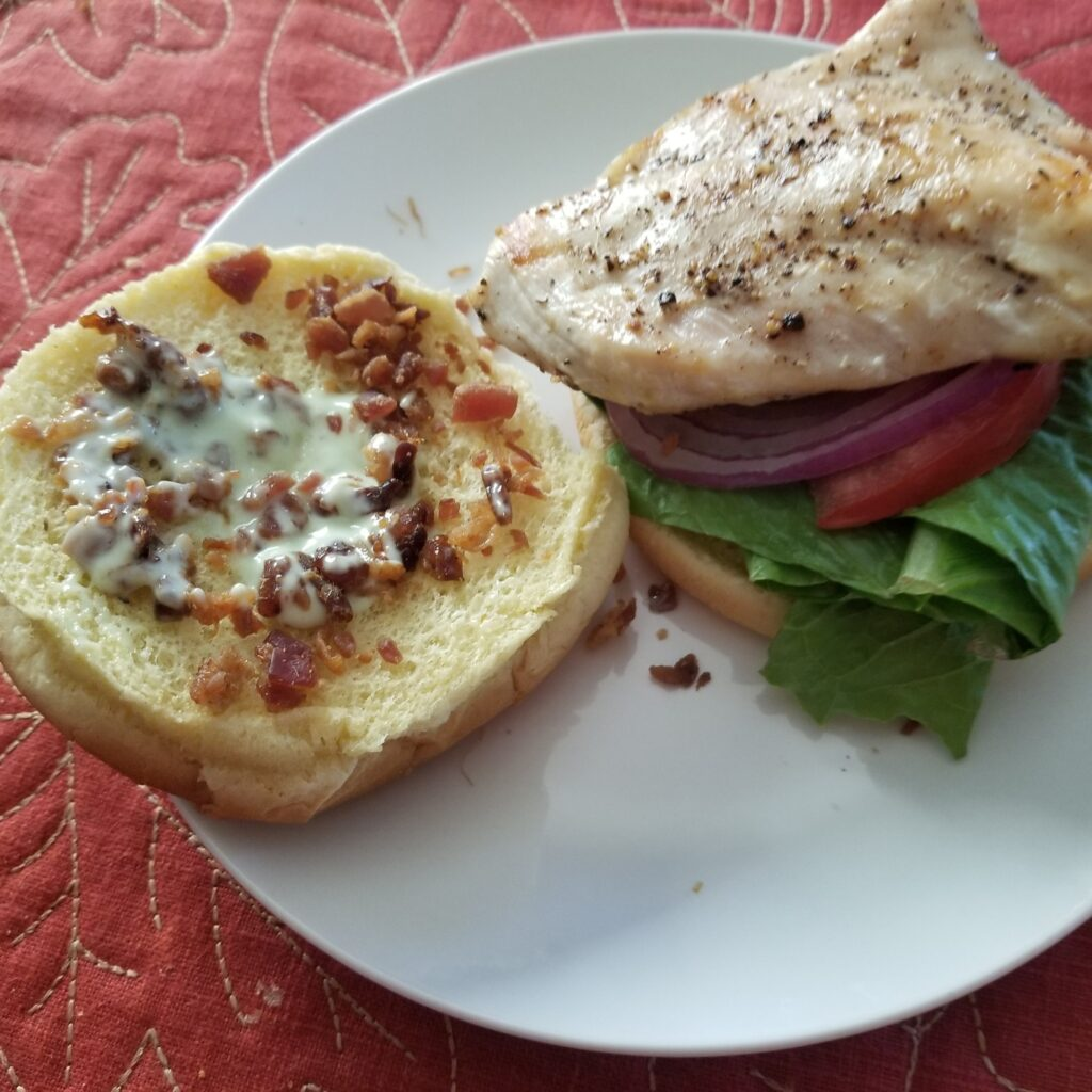 Grilled Chicken BLT with Green Goddess Dressing