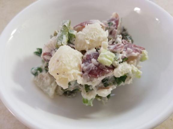 Potato Salad with Asparagus and Peas