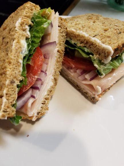 High Fiber Turkey Sandwich