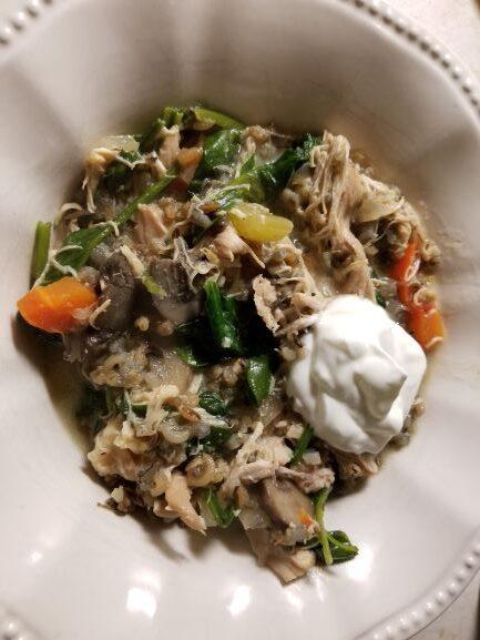 Chicken & Wild Rice Stew with Kale