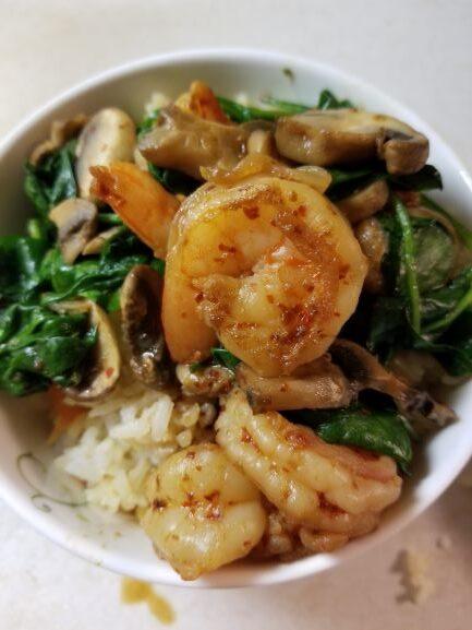Korean Spiced Shrimp and Rice Bowls