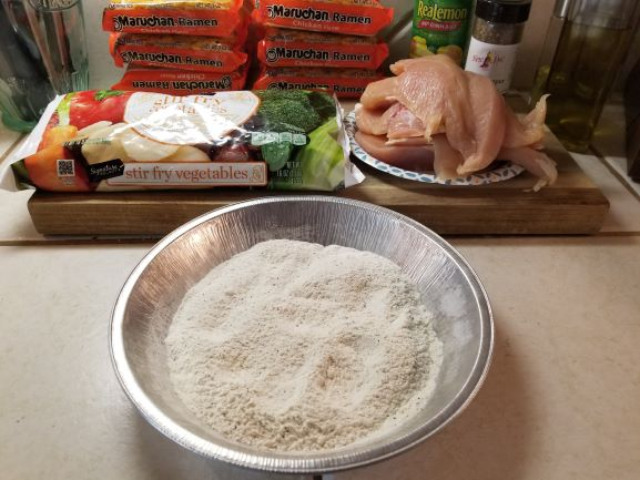 Lemon Chicken with Garlic & Pepper Ramen ingredients