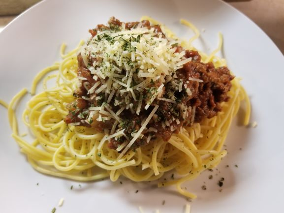 Spaghetti with Low Sodium Meat Sauce
