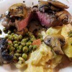 New York Strip Steak & Mushrooms