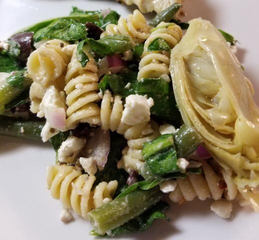 Green Bean and Feta Pasta Salad