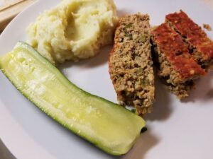 Instant Pot Turkey Meatloaf and Zucchini Halves